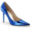 CLASSIQUE-20 Blue Metallic Faux Leather